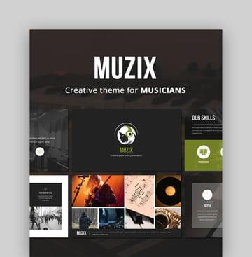 Muzix - PPT Template Music