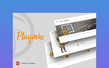 Playmix - PowerPoint Templates Music Theme