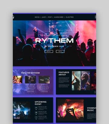 Rythem - Music Event PowerPoint Template