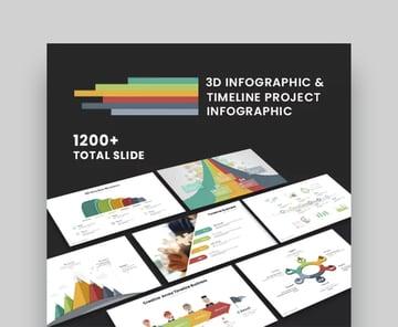 3D Infographic Timeline Presentation Template