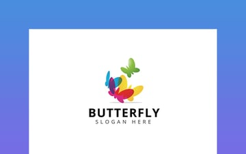 Colourful Butterfly Logo Design