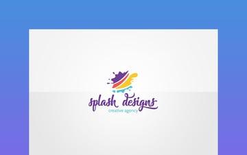 Playful Splash Logo Design on Envato Elements