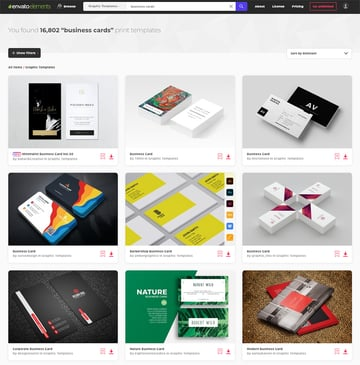 Designing Business Cards with Envato Elements