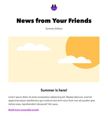 Accessible Free HTML Email Template Download