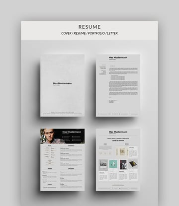 4-in-1 Stylish Resume Template