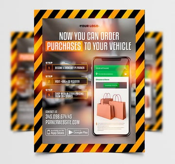 Delivery Service App - Free Flyer Templates PSD