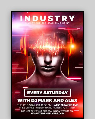 Industry - Club Party Flyer
