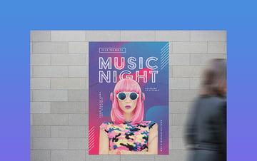 Bold Club Music Night Flyer