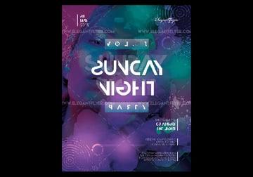 Free Night Club Saturday Flyer