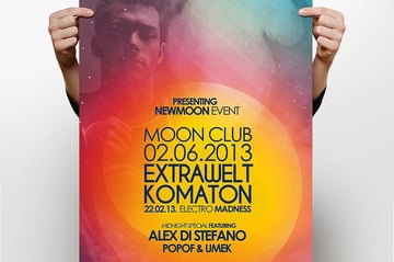 Text Club Flyer from Envato Elements creates a unique focal point