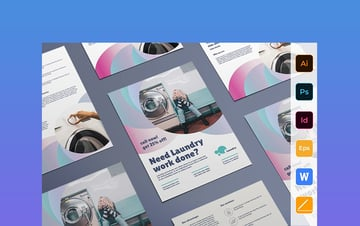 Laundry Flyer Template Word
