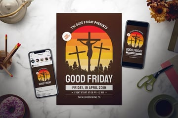 Good Friday Flyer Set is a premium flyer that uses enough white space