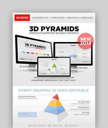PowerPoint 3D Pyramid Template