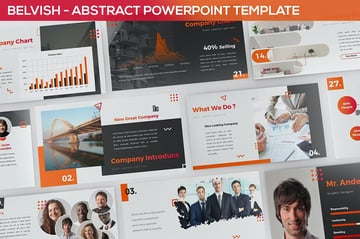 Belvish - Abstract  Modern Powerpoint Template
