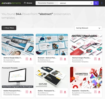 Find loads of premium customizable abstract PPT templates on Envato Elements