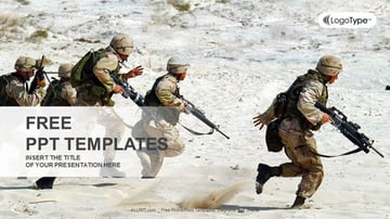 Squad of Soldiers in the Desert - Free Soldier PowerPoint Template