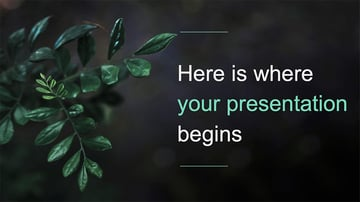 Botanical - Green PowerPoint Template Free