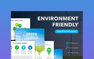 Environment - Blue and Green Background Theme