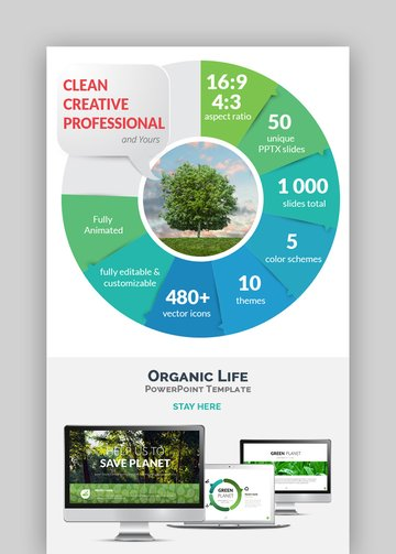 Organic Life - Go Green Eco PPT Template