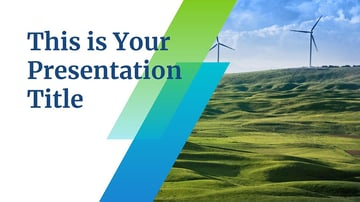Slanted - Blue and Green Environment PPT Templates Free Download