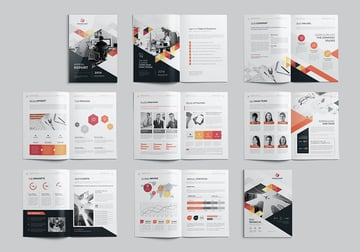 16 Pages - Year-End Report Template