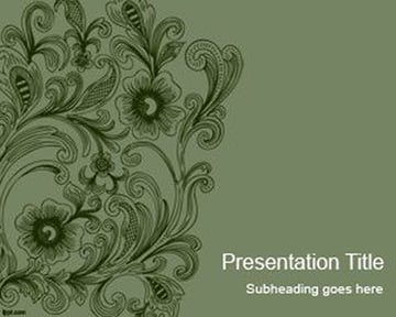 Swirls - Vintage PowerPoint Template Free