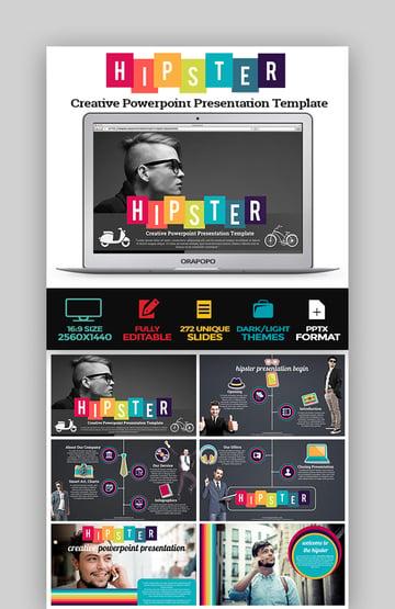 Hipster Creative PowerPoint Presentation Template