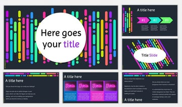 Neon - Free Laser PPT Template
