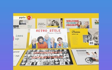 Retro Style PowerPoint Template