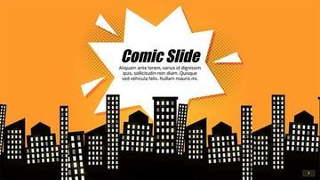 Free Comic Book PowerPoint Background