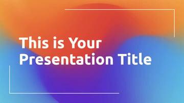 Rainbow Gradients - Free Classy Presentation Template