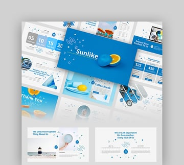 Sunlike - Clean  Professional Presentation Google Slides Template