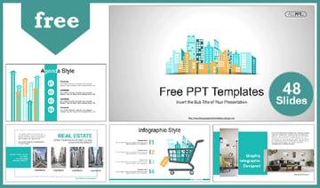City Building Skyline - Free PowerPoint Templates