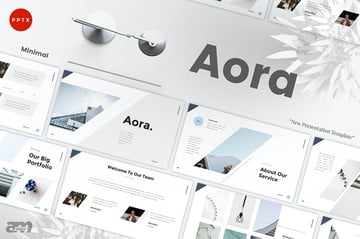 Aora Minimal PowerPoint Template a premium template on Envato Elements