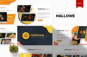 Hallowe PowerPoint Template a premium Halloween template on Envato Elements