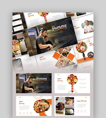 Yummy - Halloween Food PowerPoint Template