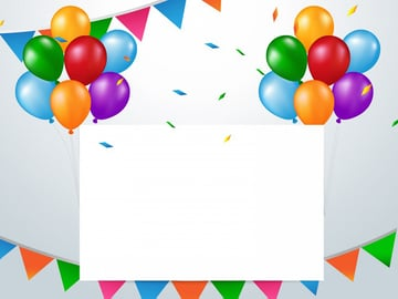 Colorful Balloons - Free Birthday PPT Download