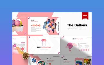 The Ballons - Birthday Presentation Template