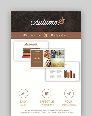 Autumn - Thanksgiving PowerPoint Slides