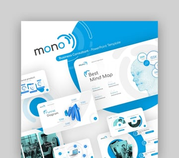 Mono Business Consultant Powerpoint Presentation Template Fully Animated
