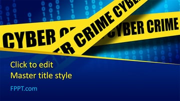 Cybercrime Free Security PowerPoint Templates