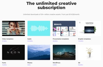 Get unlimited creative assets with an Envato Elements subscription