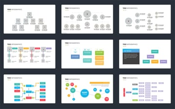 Get a premium minimalistic decision tree template from Envato Elements