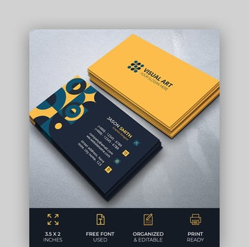 Elegant Business Card With Retro Style
