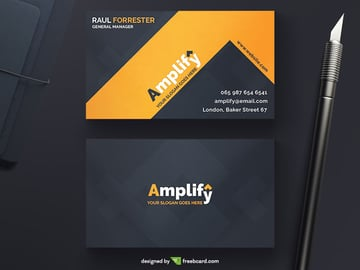 Free Amplify Corporate Business Card