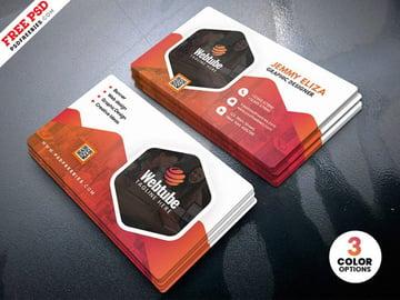 Free Corporate Company Business Card PSD
