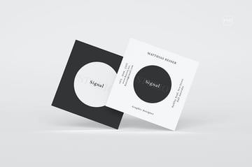 Square Business Visiting Card a premium non-horizontal card from Envato Elements