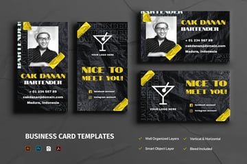 Premium Visiting Card Template from Envato Elements that grabs attention