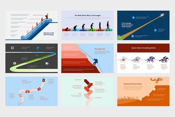Zaleka - Timeline Infographic Google Slides, a visually rich infographic template on Envato Elements