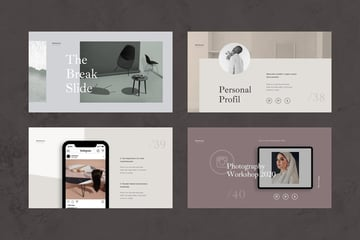 Mushroom PowerPoint Presentation, a premium template on Envato Elements that uses various background colors.